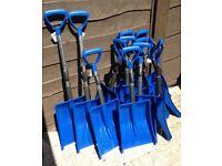 12 Snow Shovels plus 12 Windscreen Snow Brush/Ice Scraper