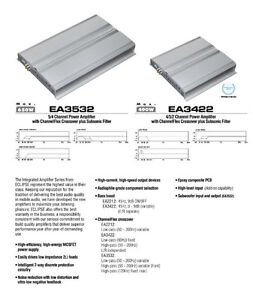 Eclipse EA3422 4-channel amp & wiring