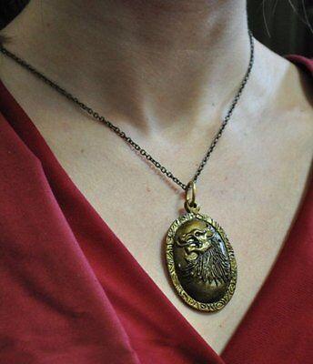 Games Of Thrones Cersei Lannister Necklace Pendant Vintage Lion Head Us Seller