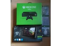 XBOX ONE big bundle, includes gaming tablet, controller and games.