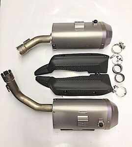 2013 Yamaha R1 Stock exhaust cans and panels