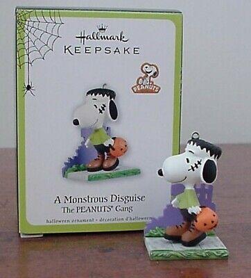 Hallmark Keepsake Ornament Snoopy A Monstrous Disguise NIB 2011 Halloween Fall
