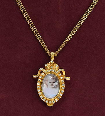 SIGNED FABERGE LOCKET NECKLACE