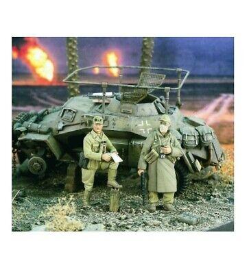 WWII 2 figura resina 1/35 soldados alemanes Afrika Korps A-286