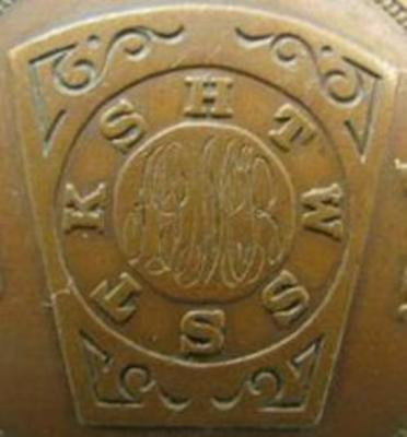 EARLY 1900s MIDDLETOWN NY MIDLAND CHAPTER NO. 240 R. A. M. PENNY TOKEN - MARKED
