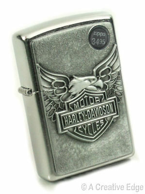 Zippo Harley Davidson Iron Eagle Lighter New In Box on Rummage