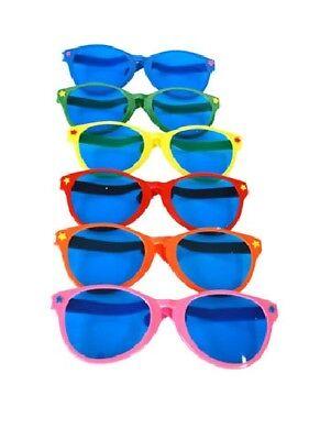 Jumbo Giant Clown Novelty Sunglasses Glasses Plastic Novelty Costume Huge Frames](Jumbo Glasses)