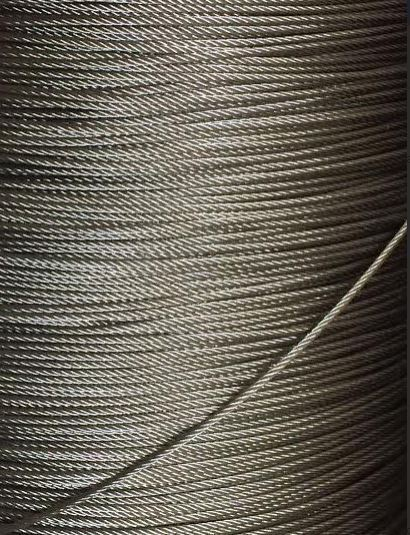 """5/64"""" 2mm 7x19 Stainless Steel T316 Cable Wire Rope - 25"""