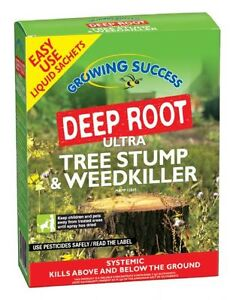 Deep Root Ultra Tree Stump & Weedkiller -  Very Strong Weed Killer 2pk