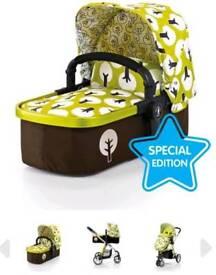 Green cosatto carry cot