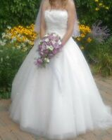 Wedding Dress - Altered for Small Size 10 - Worn Once