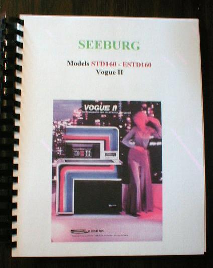 Seeburg Model STD160 ESTD160  Vouge II Jukebox Manual
