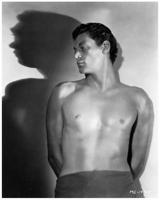JOHNNY WEISMULLER great 8x10 early bare chest still as TARZAN -- j422