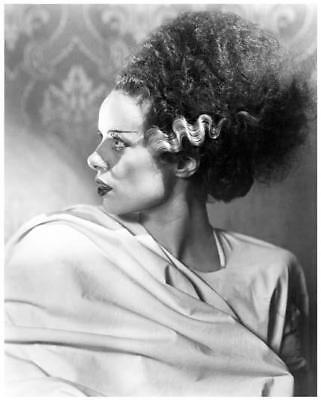 THE BRIDE OF FRANKENSTEIN great 8x10 side portrait of THE BRIDE -- f160