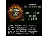 Guns n Roses tickets London x 2
