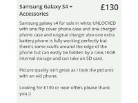 Samsung galaxy s4 +Accessories for sale or swap