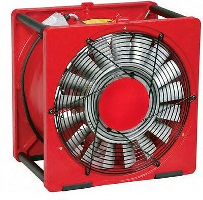 16 Portable Smoke Exhaust Fan Ejector - 12 Hp 3200 Cfm 115230v - Industrial