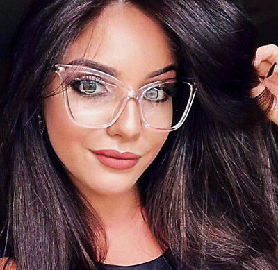 Large Square Cat Eye Gold Fearless Fashion Big Frames Clear WaY Eyeglasses 6970 - Cat Eye Glasses Frames