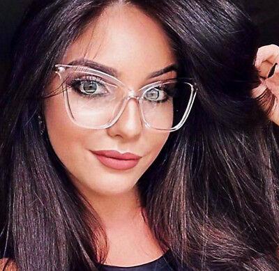 Large Square Cat Eye Gold Fearless Fashion Big Frames Clear WaY Eyeglasses (Square Eyeglass Frames)