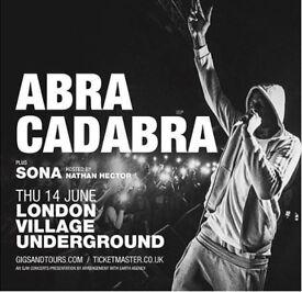 Abra Cadabra Tickets - Village Underground - 14/06 - PRICE DROP