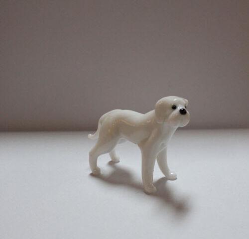 Art Blown Glass Murano Figurine Glass Dog  AMERICAN BULLDOG