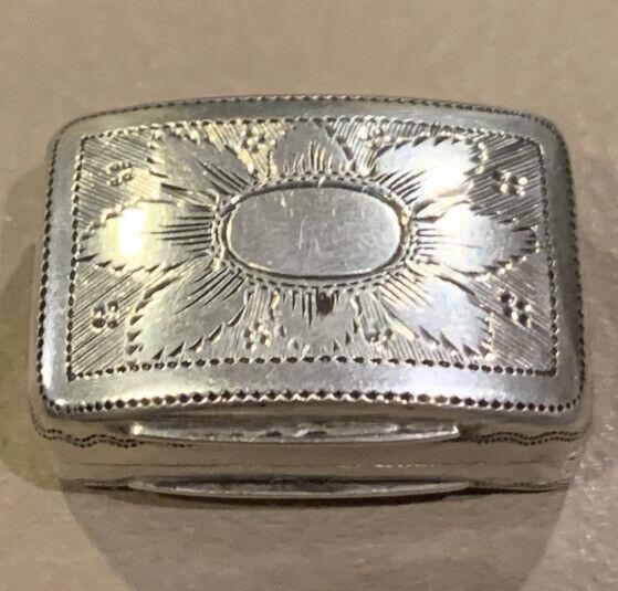 Lovely Antique 1816 Vinaigrette Sterling Silver/Gilt Birmingham No Monograms