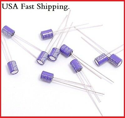10pcs 3.3uf 20v Sanyo Radial Polymer Aluminum Solid Capacitors.4x5mm.re.16v