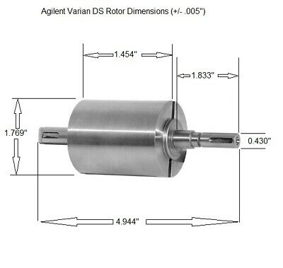 Varian Agilent Rotor For Ds102-302 Vacuum Pump Nos