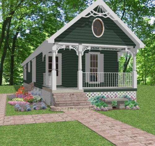 Custom Small Narrow House Home Build Plans 2-3 bed 910 sf-- PDF file