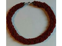 Imitation orange coral choker