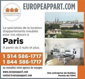 Vous cherchez un appartement à Paris pour du court séjour.