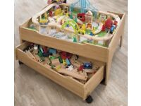 new and boxed Large wooden train set/table