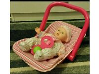 Baby Doll & Car Seat