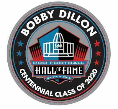 Bobby Dillon 2020 Centennial Pin-Flagge Hall Of Fame Green Bay Packers Patch IN