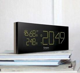Oregon Scientific Prysma Clock & Weather Station Temp Colour Changing Display New