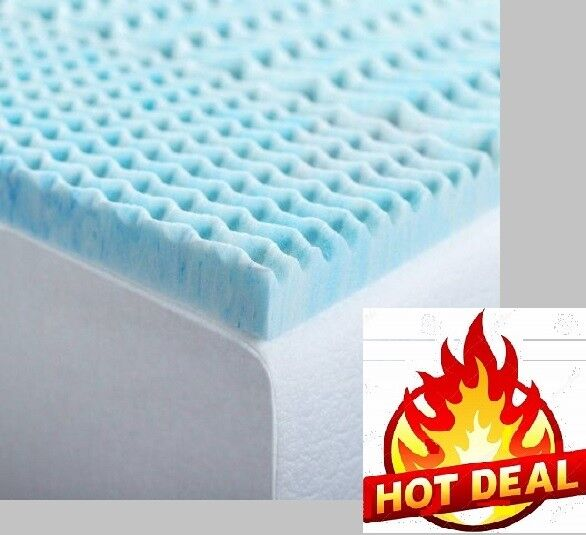 "2"" Inch Memory Foam Topper Mattress Gel Cooling Airbed Pads"