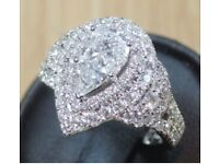 Exquisite 18ct White Gold 1.72 Carat Diamond Ring - Valued at £11,500.00