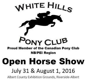 White Hills Pony Club Open Horse show - July 31/Aug 1