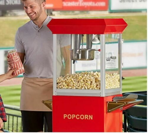 Commercial Popcorn Maker Machine 8 oz Popper Concession Stainless Steel Kettle