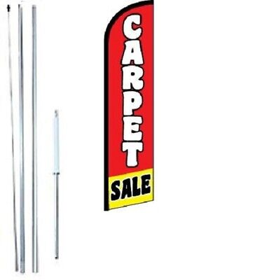 Carpet Sale Windless Swooper Flag With Complete Hybrid Pole Set