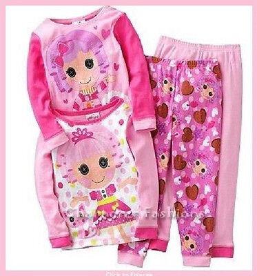 LALALOOPSY Girls 2T 4T Pajamas pjs Shirt Pants Jewels Sparkles