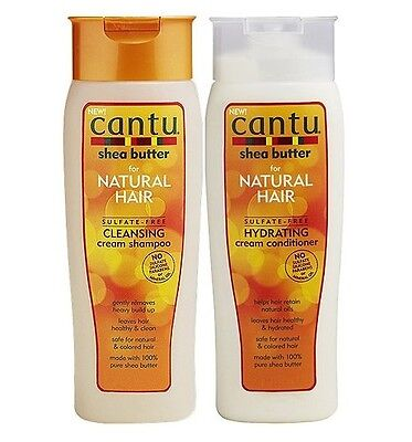 Cantu Sheabutter Sulfat Frei Reinigungscreme Shampoo & Creme Haarspülung 400ml ()
