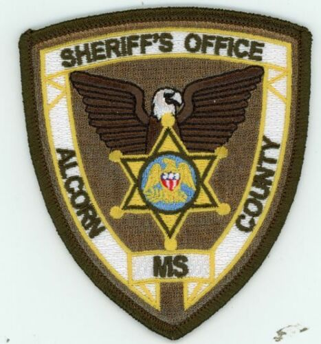 MISSISSIPPI MS ALCORN COUNTY SHERIFF NEW PATCH POLICE