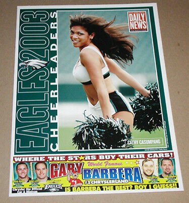 2003 CATHY CASUMPANG PHILADELPHIA EAGLES CHEERLEADERS FOOTBALL POSTER DAILY NEWS for sale  Bethlehem
