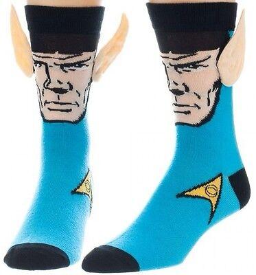 Star Trek Mister Spock Crew Socks Big Face With Jumbo Ears Mr  Vulcan Character