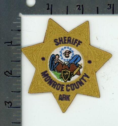 ARKANSAS AR MONROE COUNTY SHERIFF NEW COLORFUL PATCH POLICE