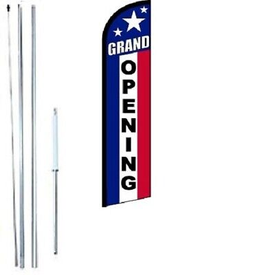 Grand Opening Windless Swooper Flag With Complete Hybrid Pole Set