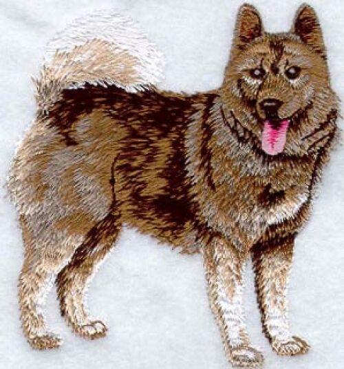 Embroidered Ladies Fleece Jacket - Norwegian Elkhound I1094 Sizes S - XXL