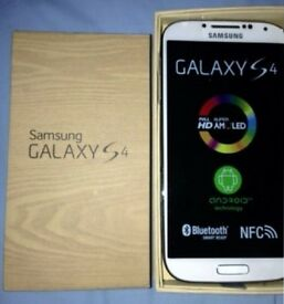 Samsung Galaxy S4 WHITE in a Box with all the Accessories SIM FREE UNLOCKED to All Networks