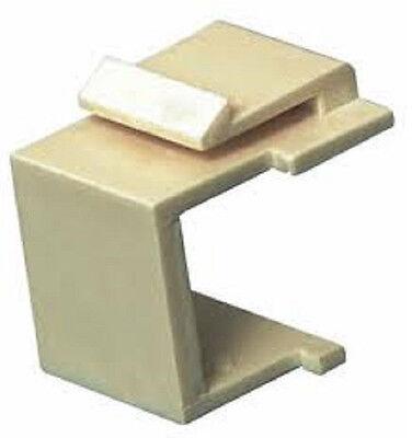 Faceplate Blank Insert - 100-Blank Keystone Filler Insert Faceplate Insert Ivory
